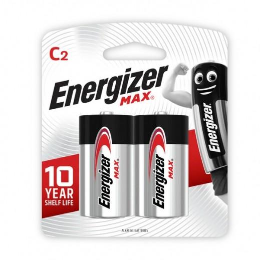 Energizer C Alkaline Batteries 1.5 V 2 Pcs
