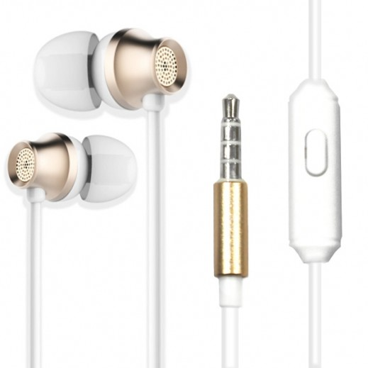 Zusen Stereo Earphones with Microphone - White