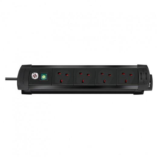 Brennenstuhl UK Style Extension Socket 4-Way 1.8m – Black
