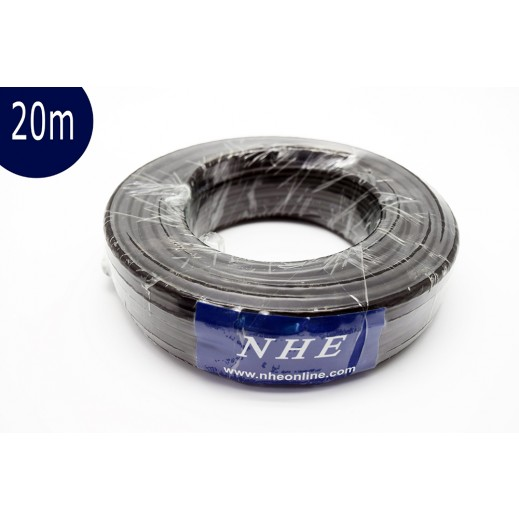 NHE High Quality Satellite Cable 20 m - Black