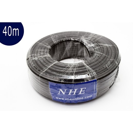 NHE High Quality Satellite Cable 40 m - Black