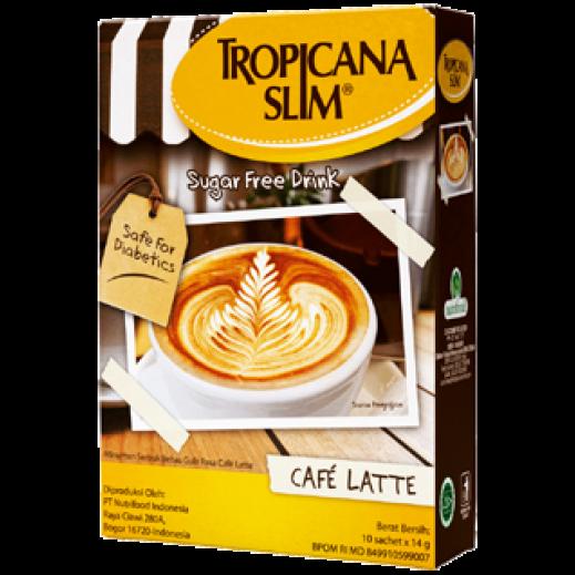 Tropicana Slim Sugar Free Café Latt Drink  10s 14 g