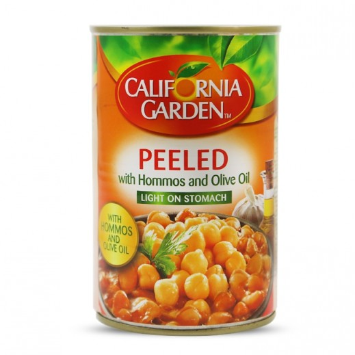 California Garden Peeled Fava Beans with Hommos & Olive Oil 450 g