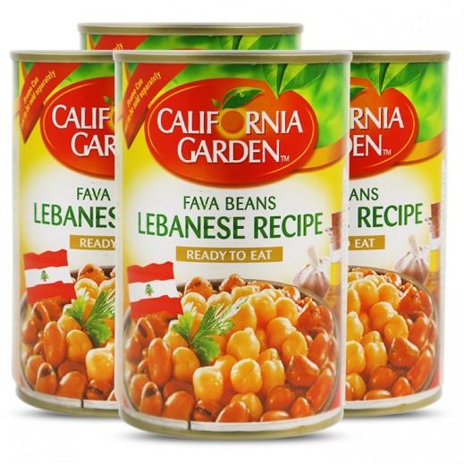 California Garden Fava Beans Lebanese Recipe 4x450 g (Prom)