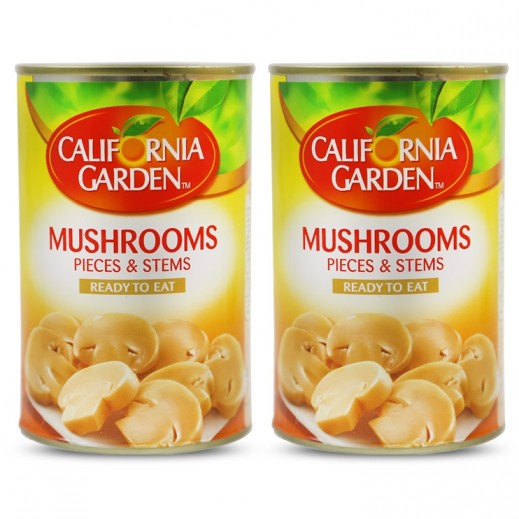 California Garden Pieces & Stems Mushroom 2x425 g