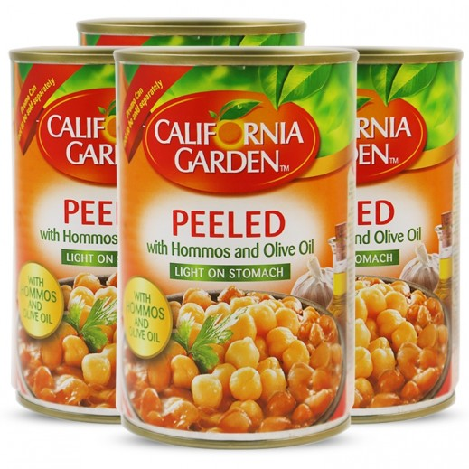 California Garden Peeled Fava Beans with Hommos & Olive Oil 4x450 g