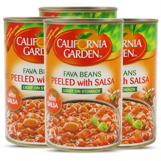 California Garden Peeled Fava Bean with Salsa 4x450 g (Prom)