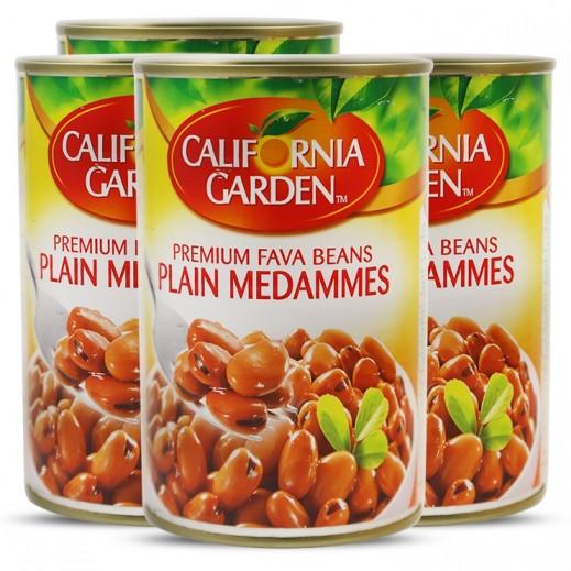California Garden Plain Medammes Premium Fava Beans 4x450 g