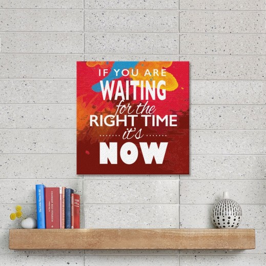 Sentence on Canvas Right Time - CA005 - delivered by Berwaz.com