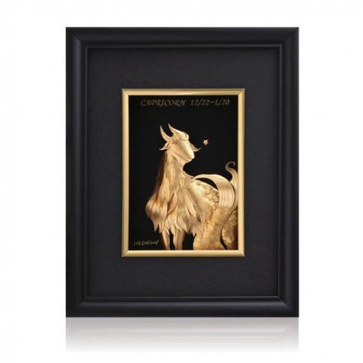 Q Best 24K Gold Foil 3D Capricorn Constellation