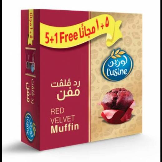 Lusine Red Velvet Muffin 60 g ( 5+1 Free )