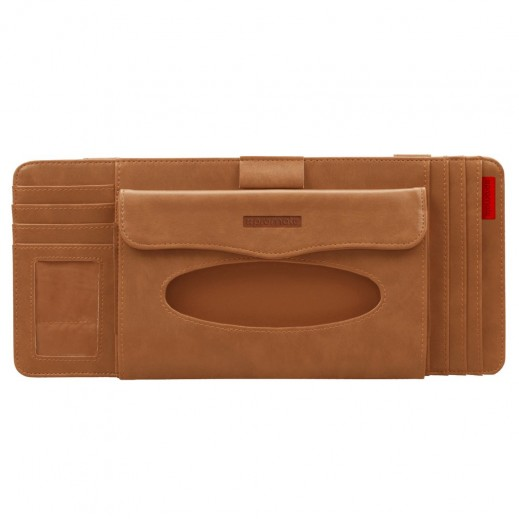 Promate Multi-Function Car Visor Organiser - Brown