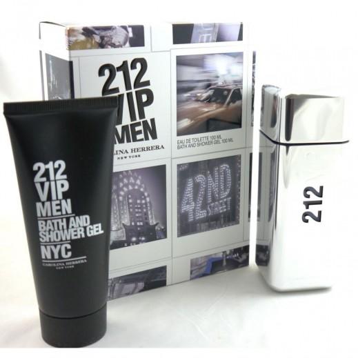 Carolina Herrera 212 VIP Gift Set For Him EDT 100 ml + Bath & Shower Gel 100 ml