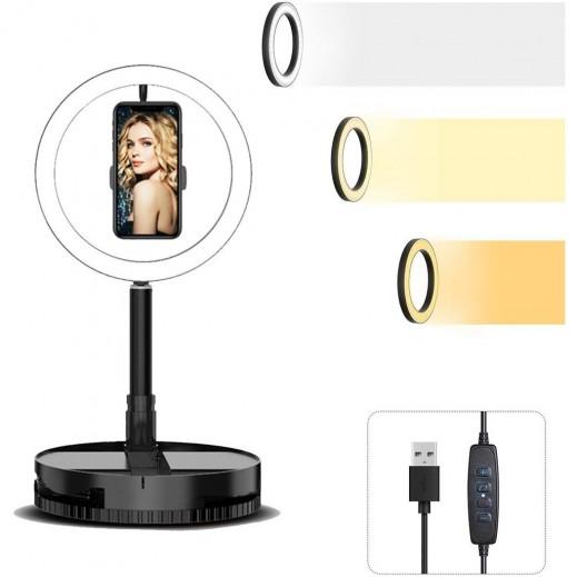 Mai Appearance G1 LED Adjustable Ring Light Selfie Stand - Black