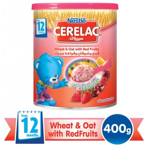 Cerelac Infant Cereal Wheat & Oat With Red Fruits 400 g