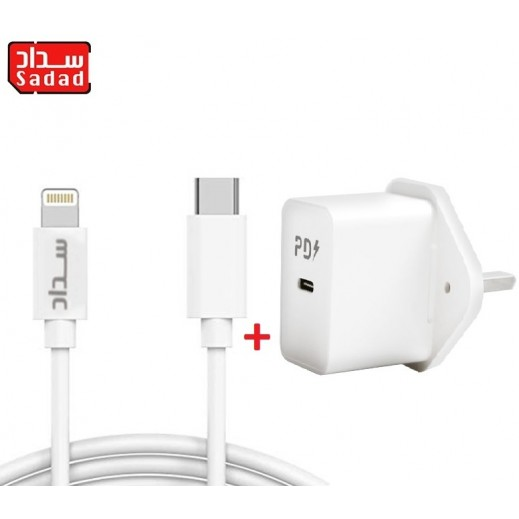 Sadad 18 W Type-C to Lightning Fast Charging Cable 1m + 18 W USB Type-C Fast Charger