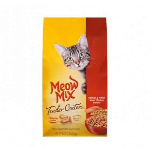 Meow Mix Tender Centers Salmon & Chicken (Cats Food) 1.36 kg