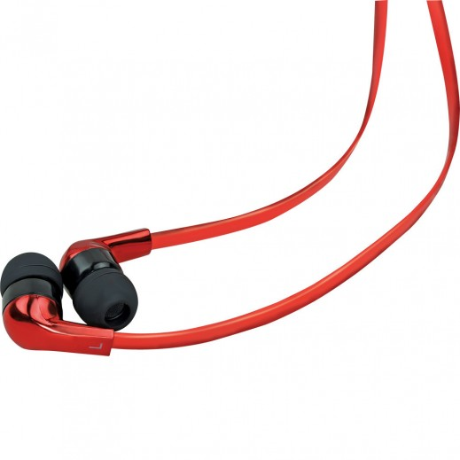 Promate Chrome Metallic Multifunction Stereo Headphones With Mic Red