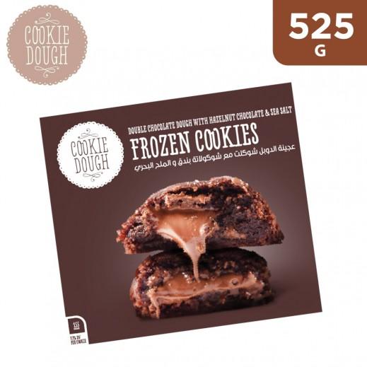 Cookie Dough Double Chocolate with Hazelnut & Sea Salt Frozen Cookie Dough Balls 525 g
