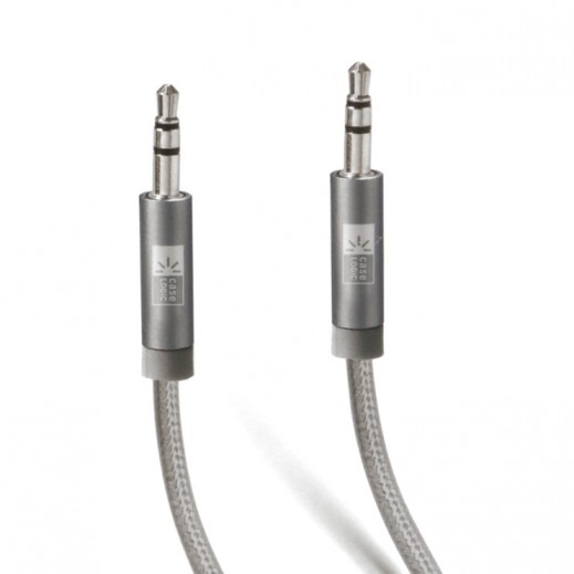 Case Logic Universal 3m Aux 3.5mm Braided Cable - Grey