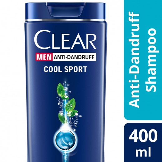 Clear Men's Anti-Dandruff Shampoo Cool Sport Menthol 400 ml