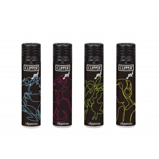 Clipper Jet Electronic Lighter Assorted Colors (1 Piece)