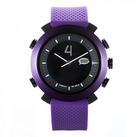 COGITO Apple And Android Smart Classic Watch - Purple