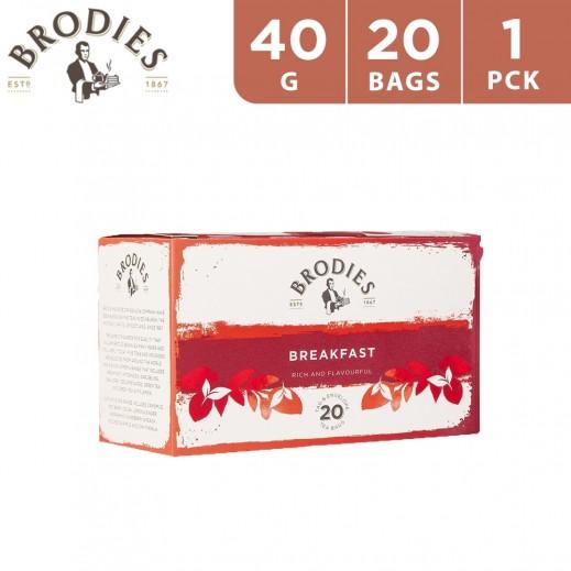 Brodies Breakfast Black Tea 40 g (20 Teabags)