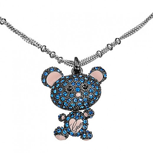 Guess Original Necklace with Blue Teddy Bear