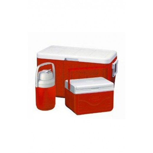 Coleman Cooler Red 48 Qt Combo Pack