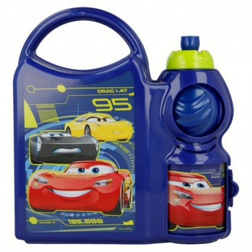 Racing Car Combo Lunch Box with Bottle 400 ml