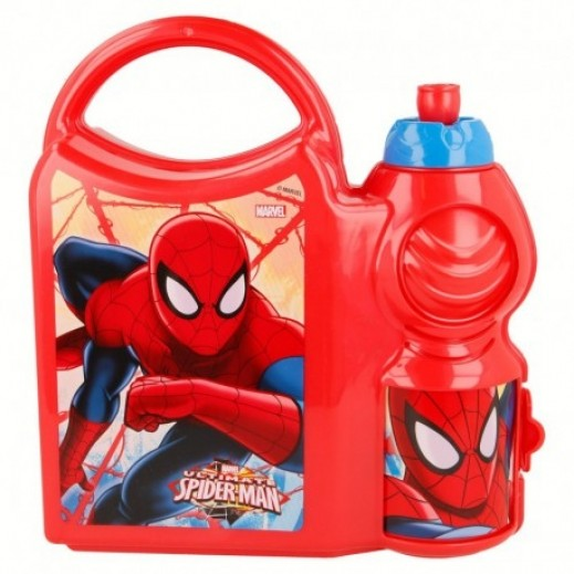 Spiderman Combo Lunch Box with Bottle 400 ml