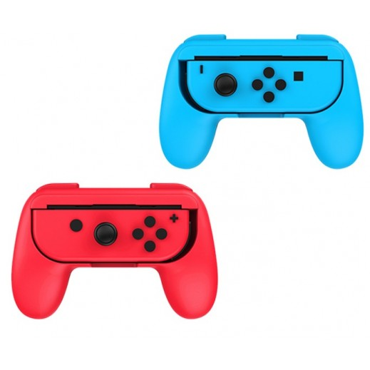 Dobe Controller Grip For Nintendo Switch - Blue-Red