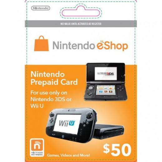 $50 Nintendo eShop Card - US