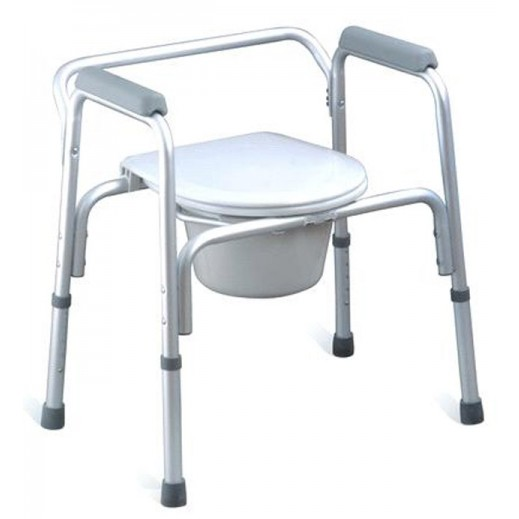 Virtus Commode Chair Without Wheels-Steel # Ca616 - delivered by Al Essa Company