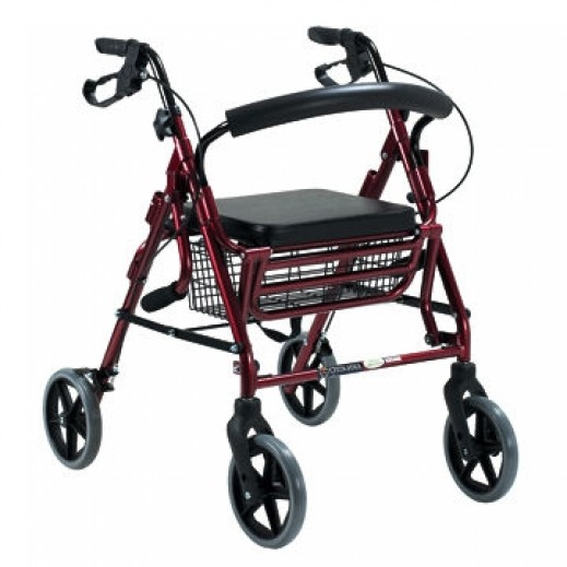 Virtus Aluminium Rollator Red Ca861L - delivered by Al Essa Company