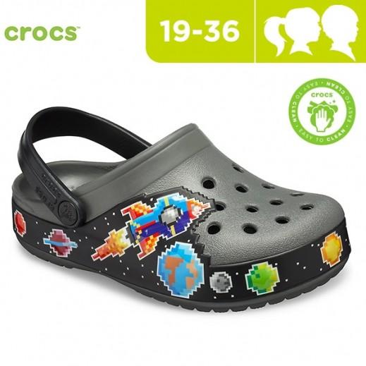 Crocs Black Galactic Kids Clogs