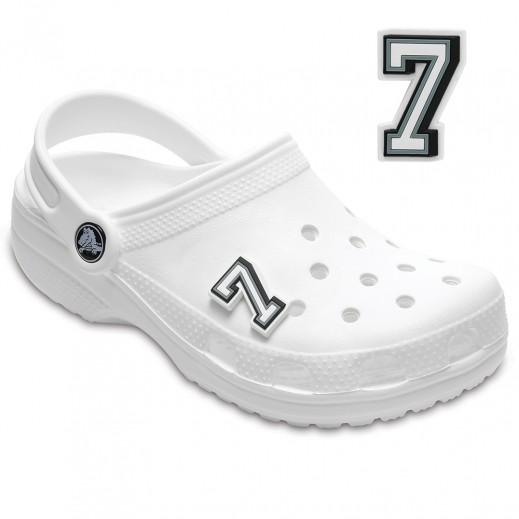 Crocs B&W Number 7 Jibbitz