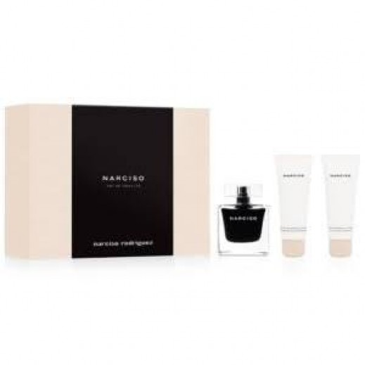 Narciso Rodrigues Eau De Toilette Gift Set For Her EDT 90 ml + Shower Cream 75 ml + Body Lotion 75 ml