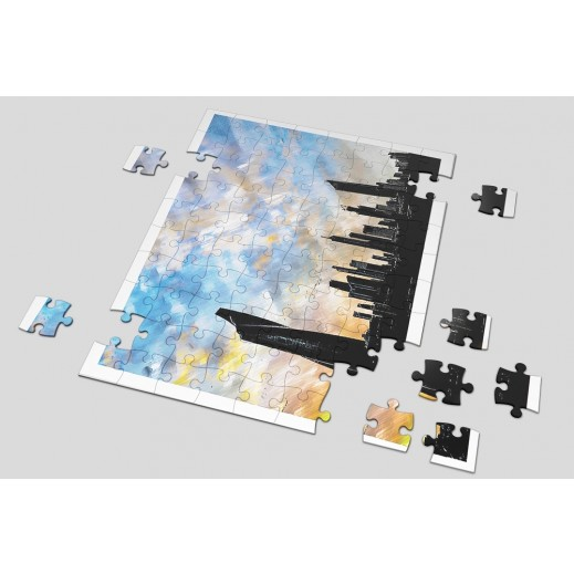 Kuwait City Puzzle by Noor Hellewa - delivered by Berwaz.com