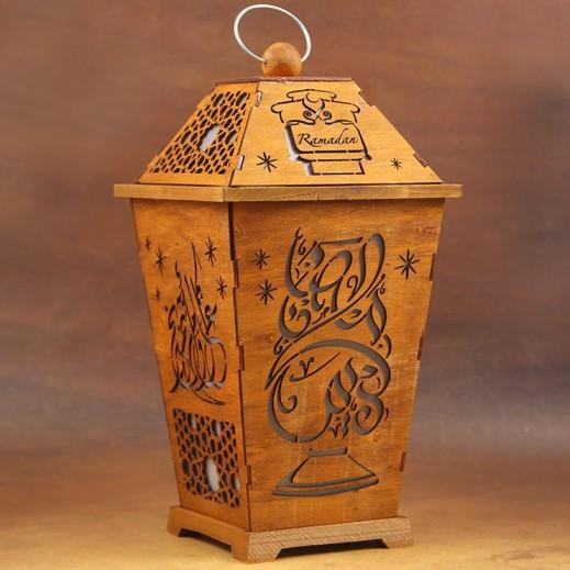 Ramadan Special Wooden Lantern Medium - Assorted Designs