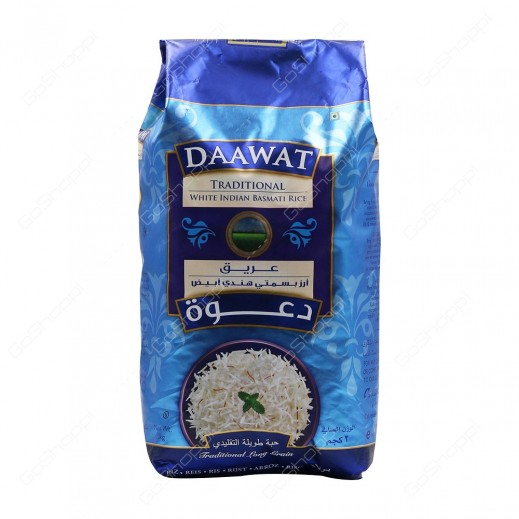 Daawat Traditional Indian Basmati Rice 2 kg