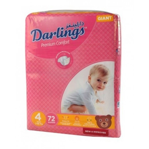 Darlings Maxi Size 4 (7-16 kg) 72 Pieces
