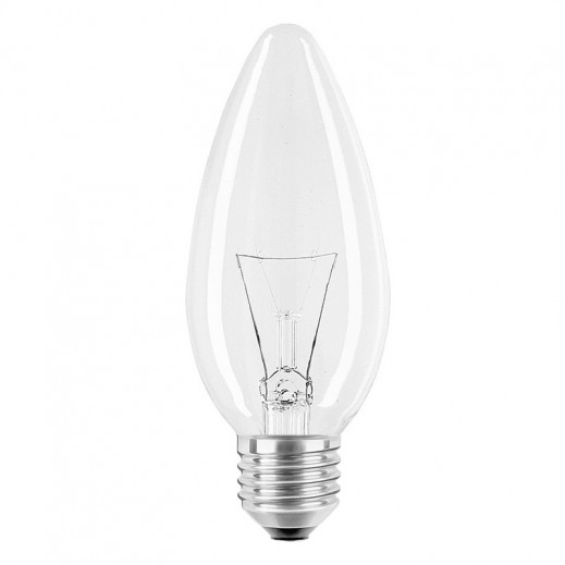 GE E14 40 W  candle clear