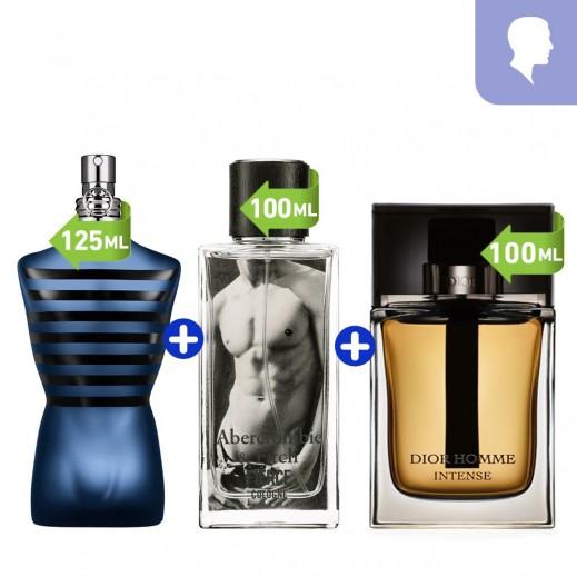 Bundle Of 3 Perfumes For Men EDT 125 ml+ EDP 100 ML+ EDC 100 ML