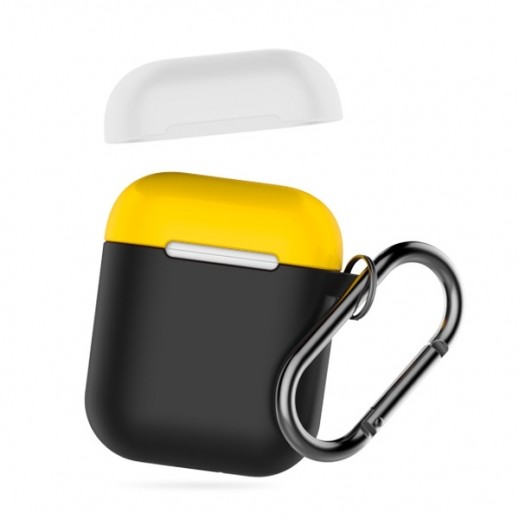 Devia Airpods Silicone Case – Black