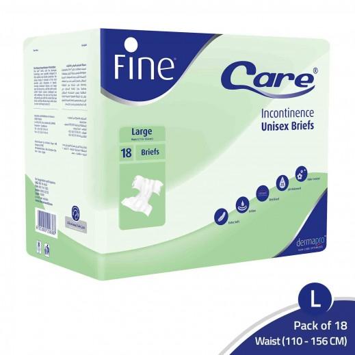 Fine Care Unisex Adult Briefs Large 18 pcs Dermapro