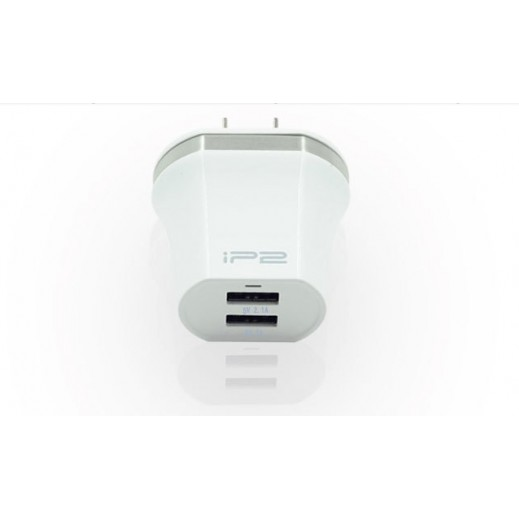 Ip2 2 USB Wall Charger White