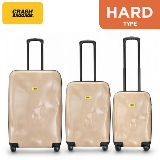 Crash Baggage Spinner Suitcase Nude Pink Set - (3 Pieces)