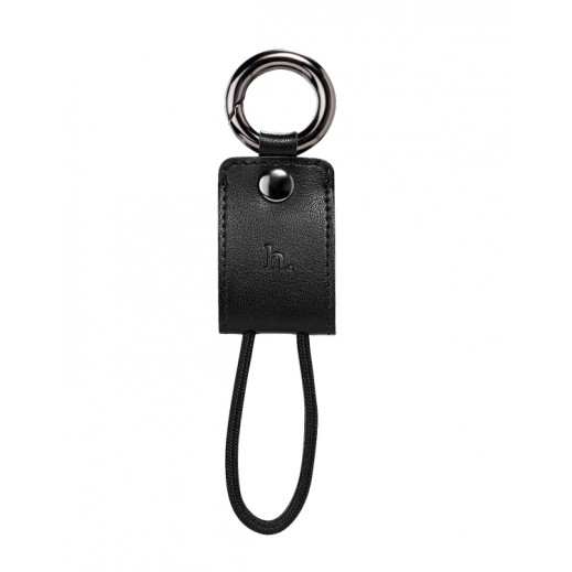Hoco Key Chain Portable Charging Lightning Cable Black